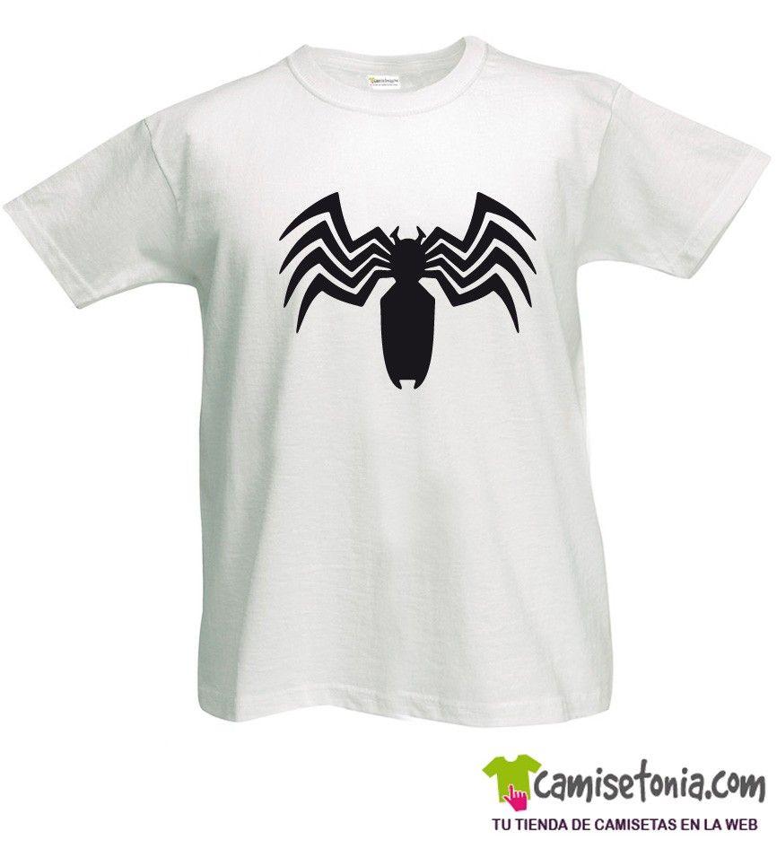 15b260fe9 ... Camiseta Venom Blanca Hombre ...