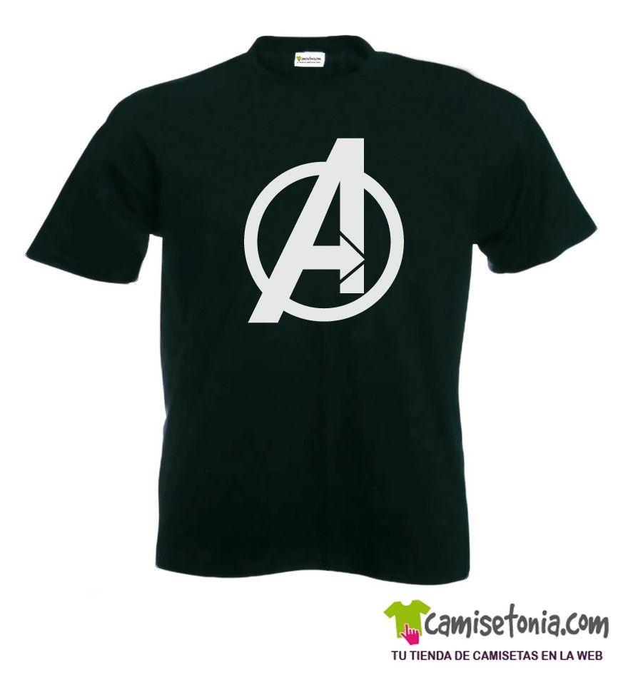 Camiseta Los Vengadores Negra Hombre