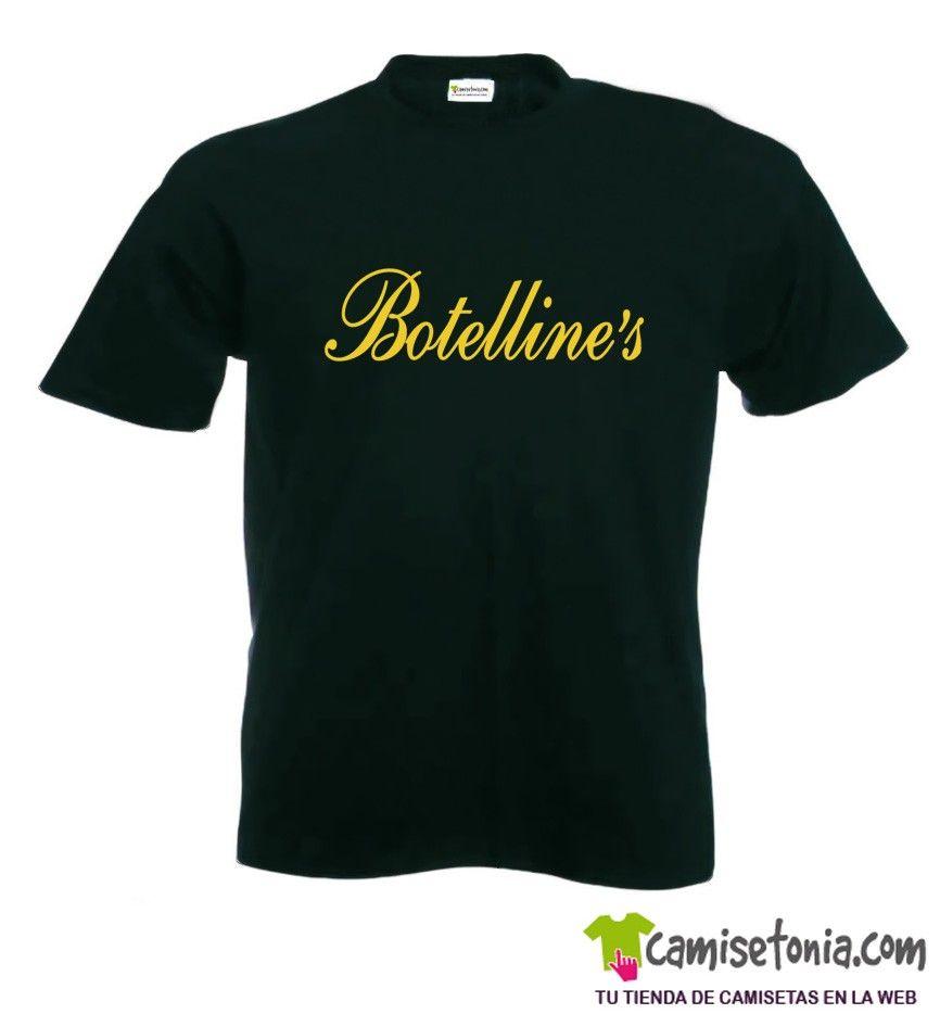 Camiseta Botelline's Negra Hombre