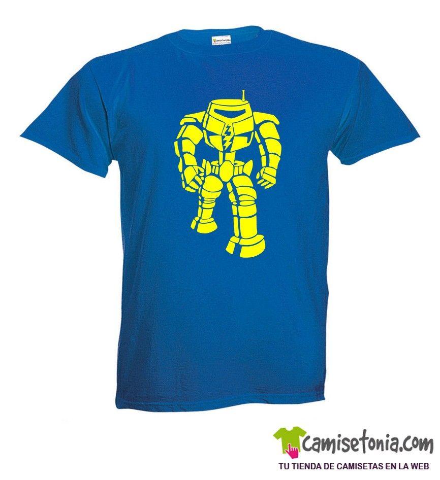 Camiseta Robot Sheldon Azul Hombre