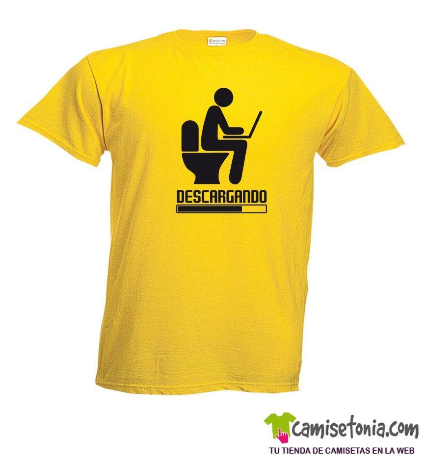 Camiseta Descargando Amarilla Hombre