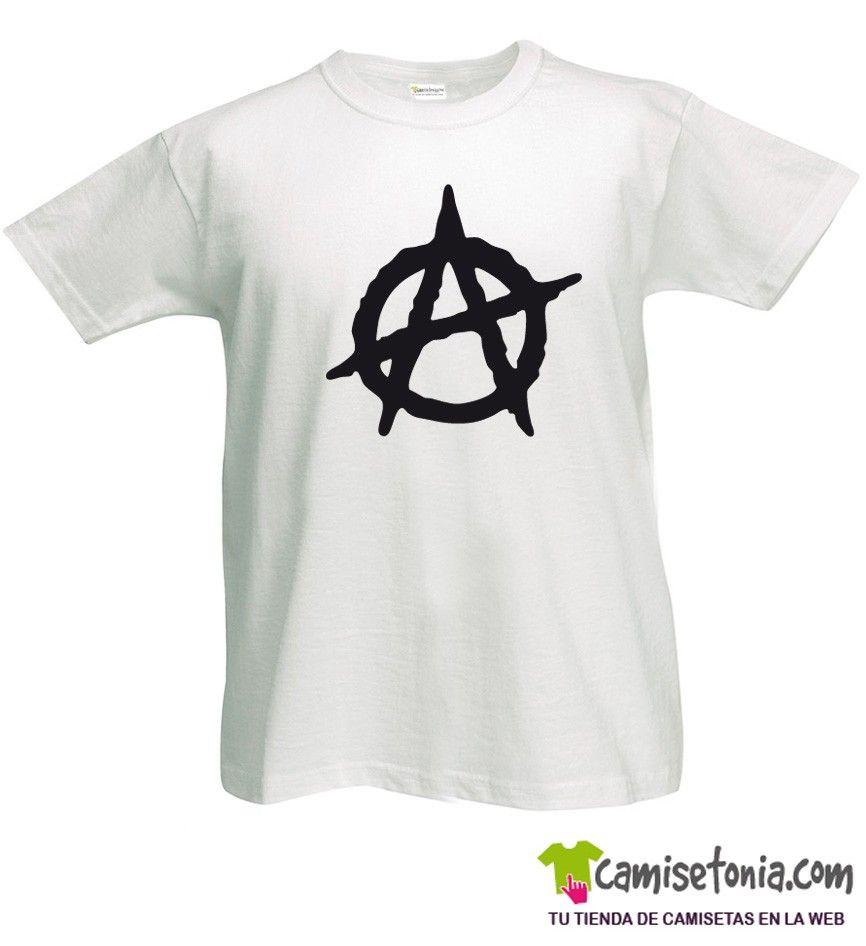 Camiseta Anarquía Blanca Hombre