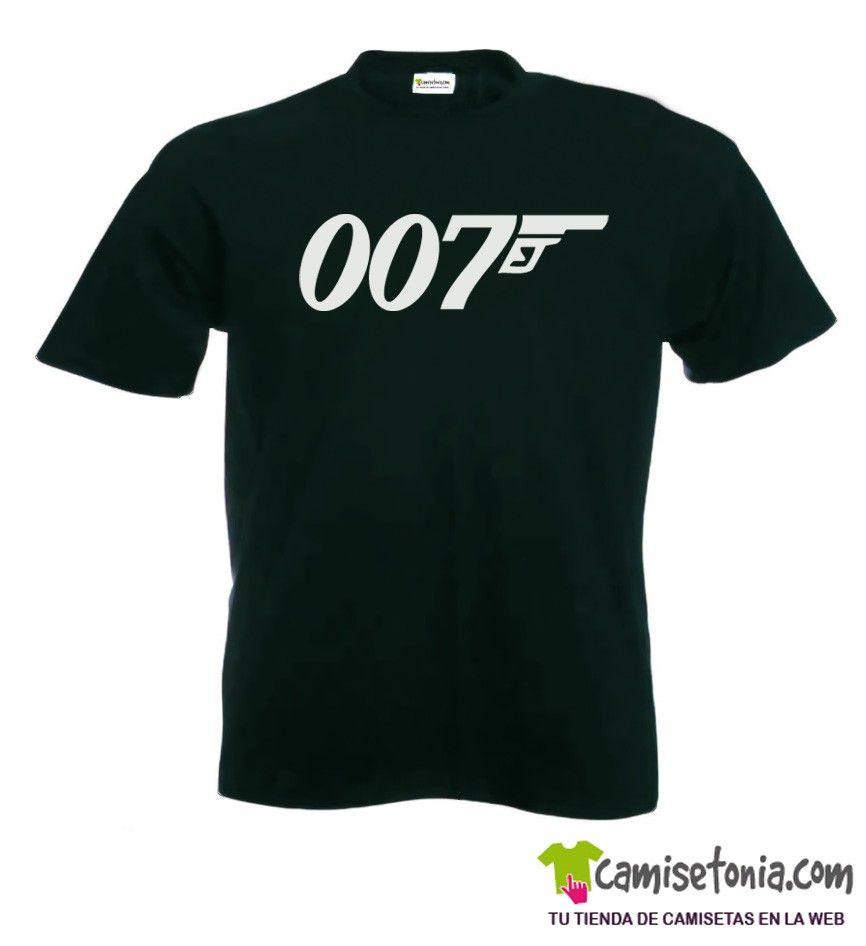 Camiseta 007 Negra Hombre