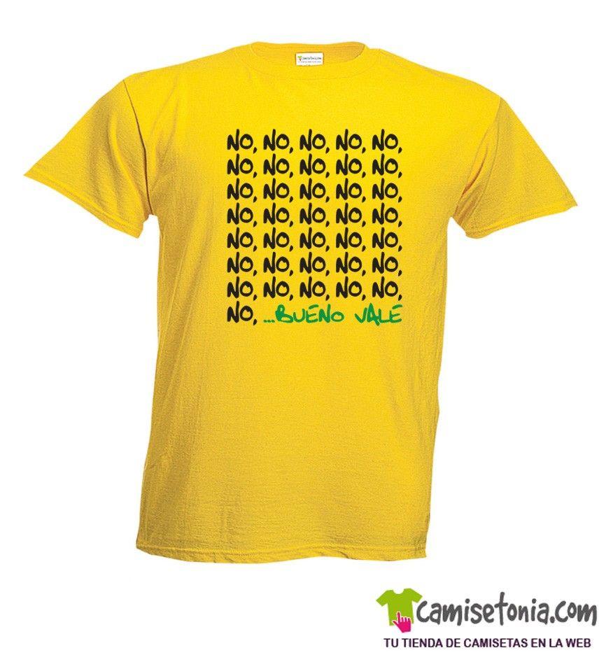 Camiseta No, No, No,...Bueno Vale Amarilla Hombre