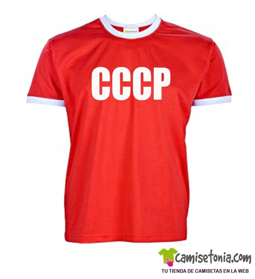 Camiseta CCCP Roja Ribetes Blancos