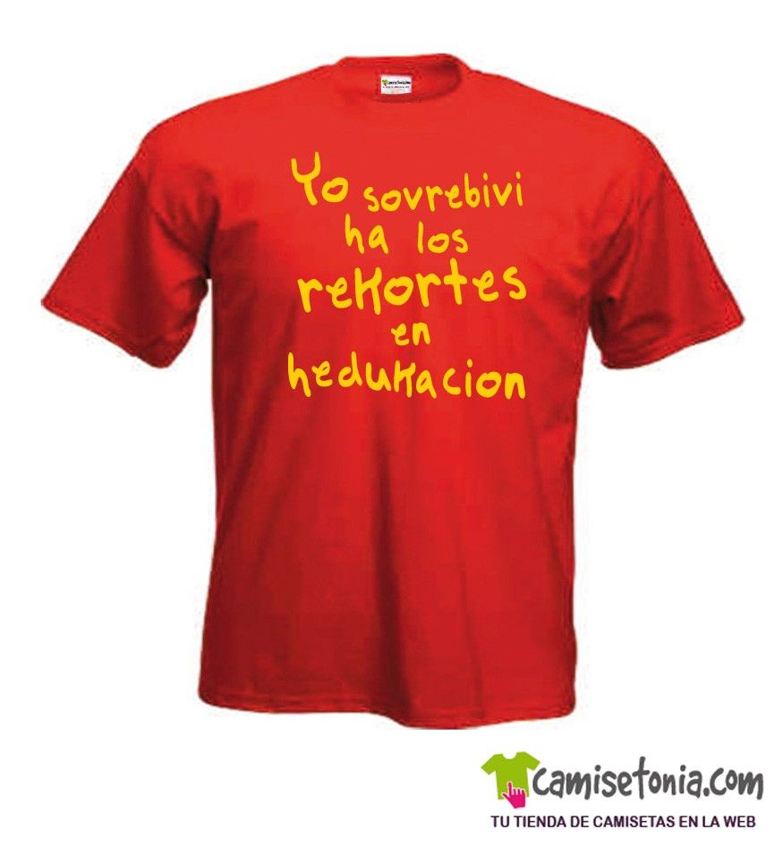 Camiseta Yo Sovrebivi ha los Rekortes Roja Hombre