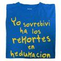 Camiseta Yo Sovrebivi ha los Rekortes en Hedukacion