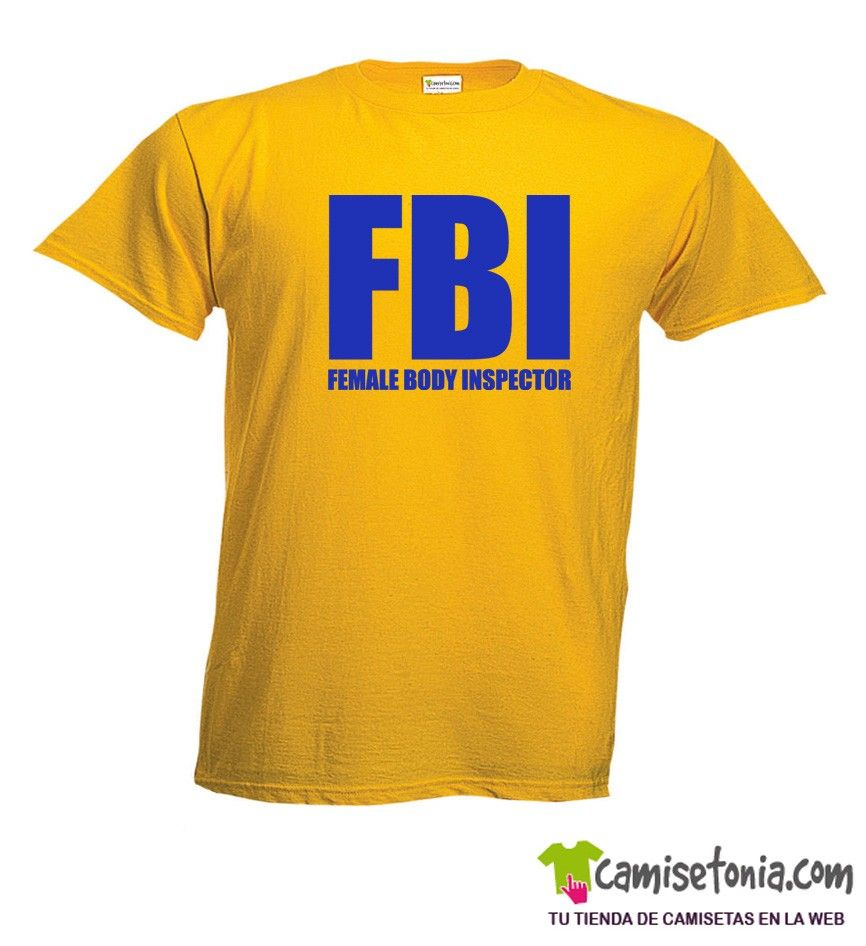 Camiseta FBI Amarilla Hombre