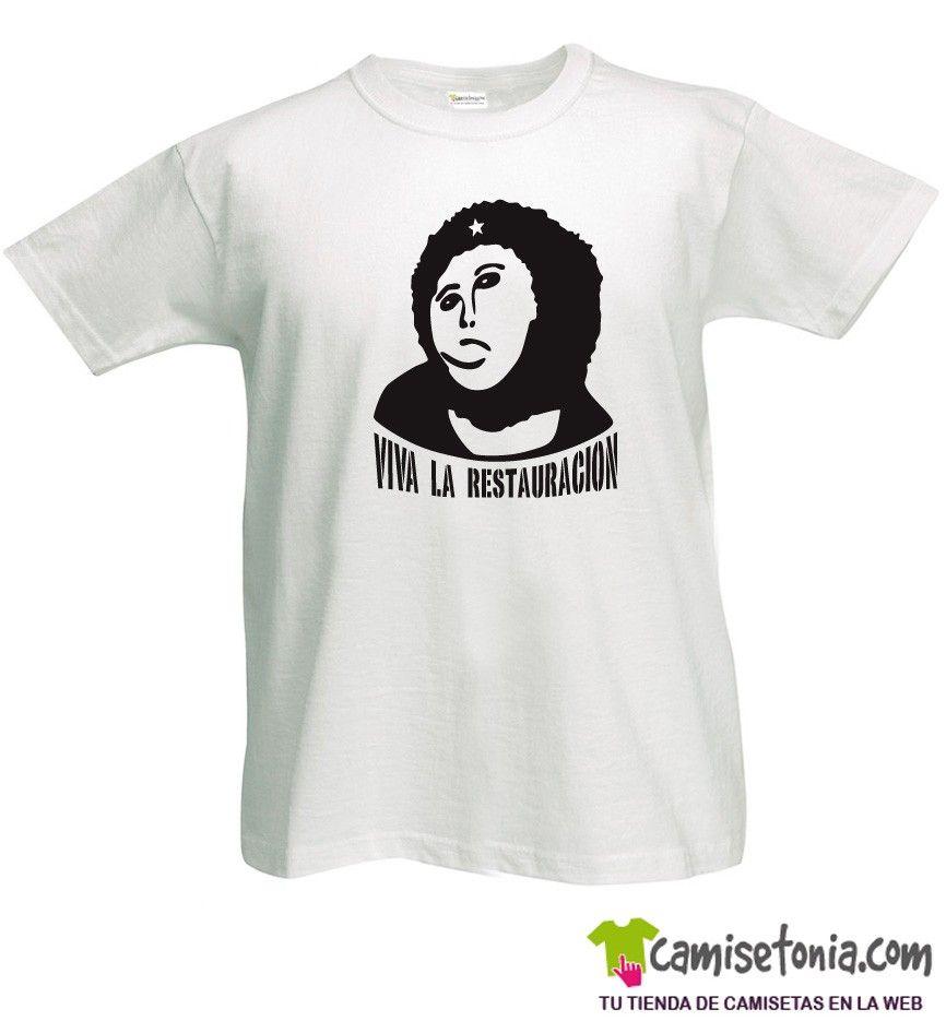 Camiseta Ecce Homo Viva la Restauracion Blanca Hombre