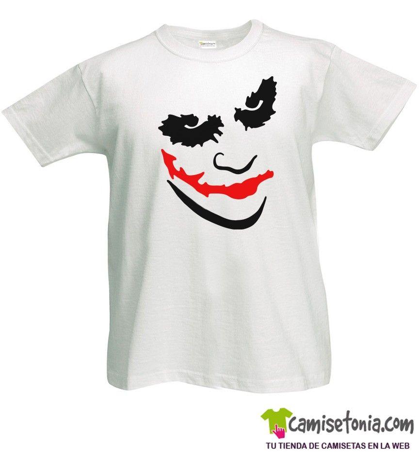 Camiseta Joker Heath Ledger Blanca Hombre