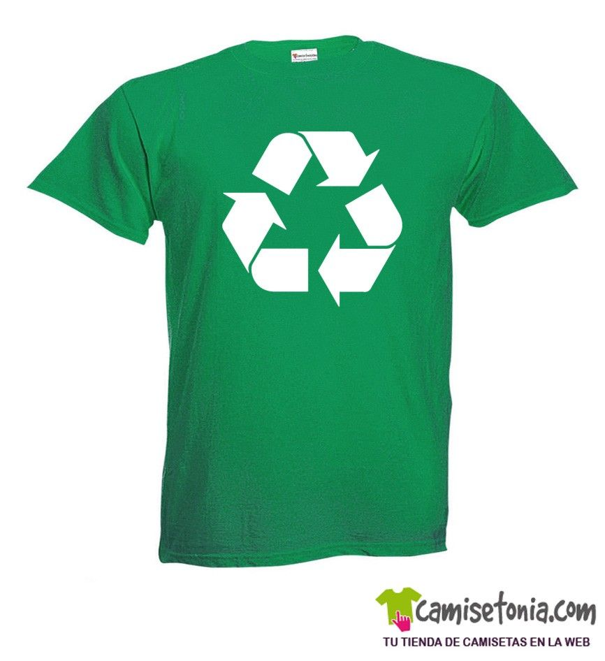 Camiseta Reciclaje Big Bang Theory Verde Hombre