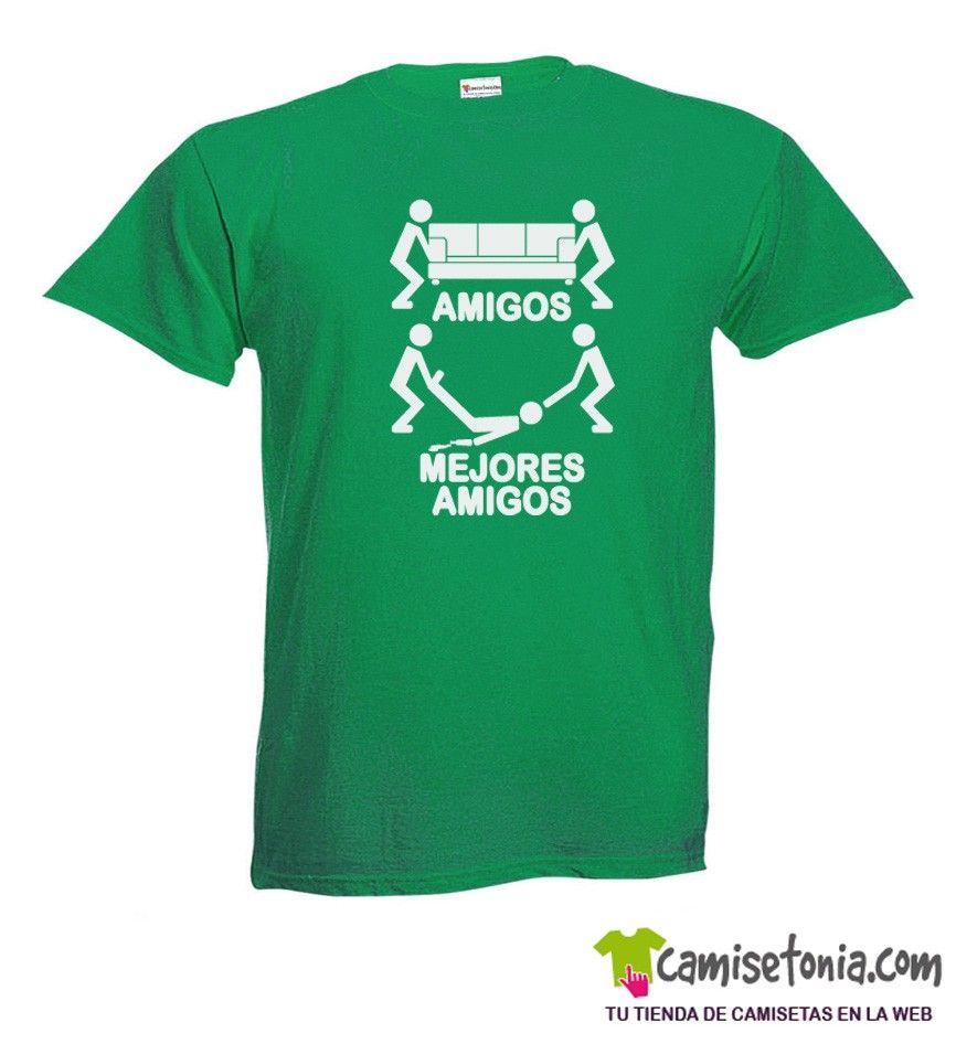 Camiseta Amigos - Mejores Amigos Verde Hombre