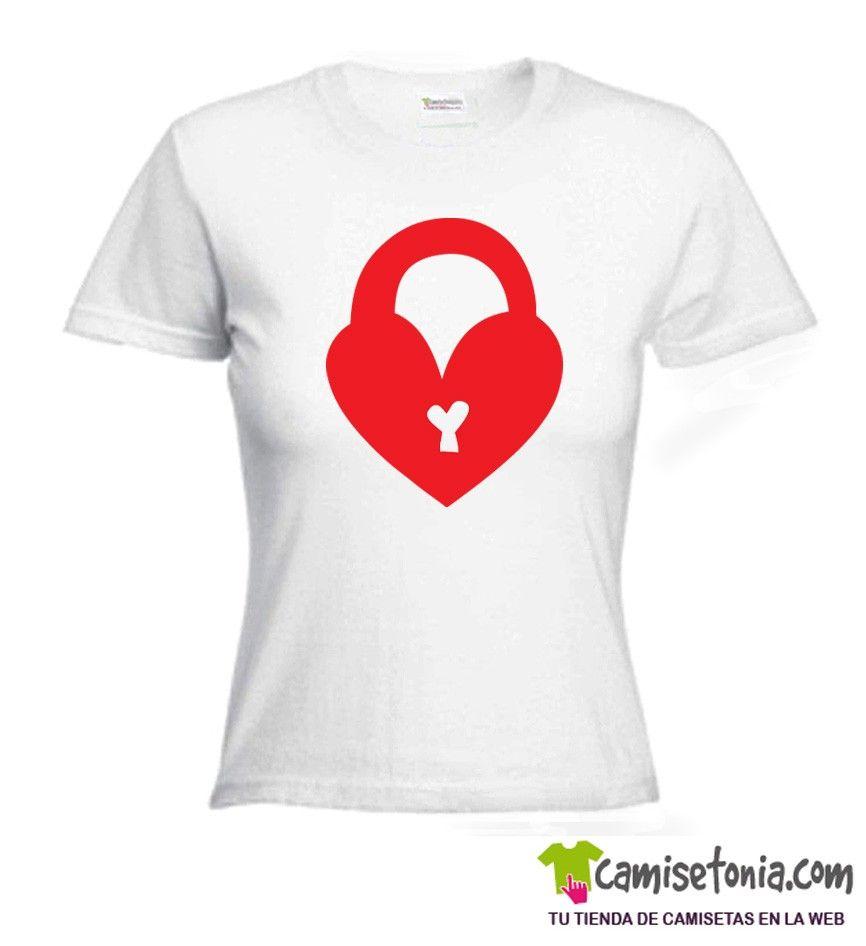 Camiseta Dia Enamorados Blanca Mujer