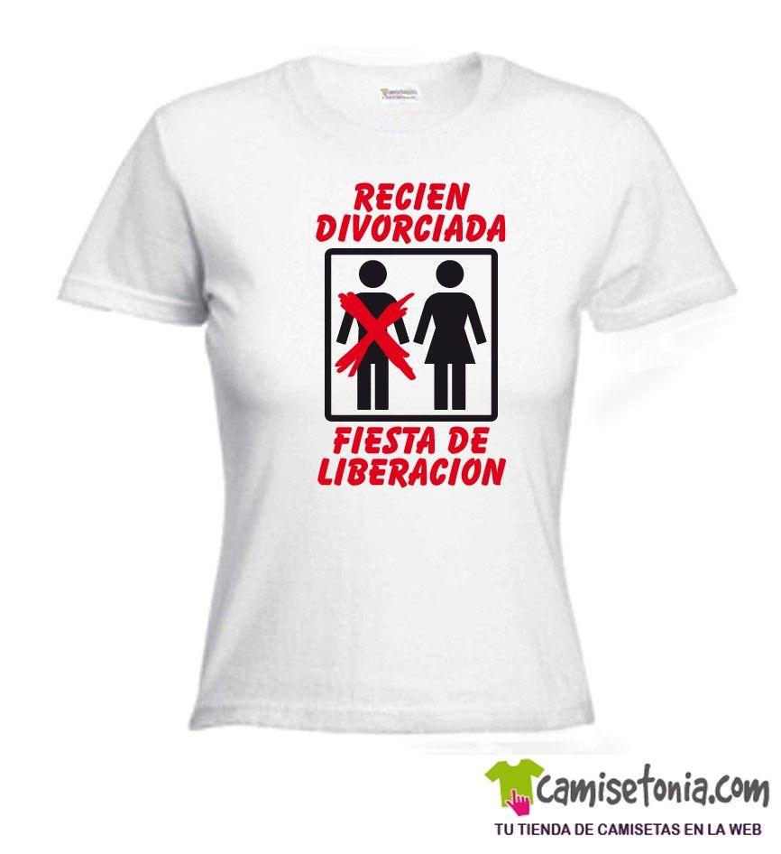 Camiseta Recién Divorciada Blanca Mujer