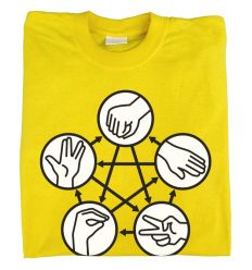 Camiseta Piedra Papel Tijera Lagarto Spock