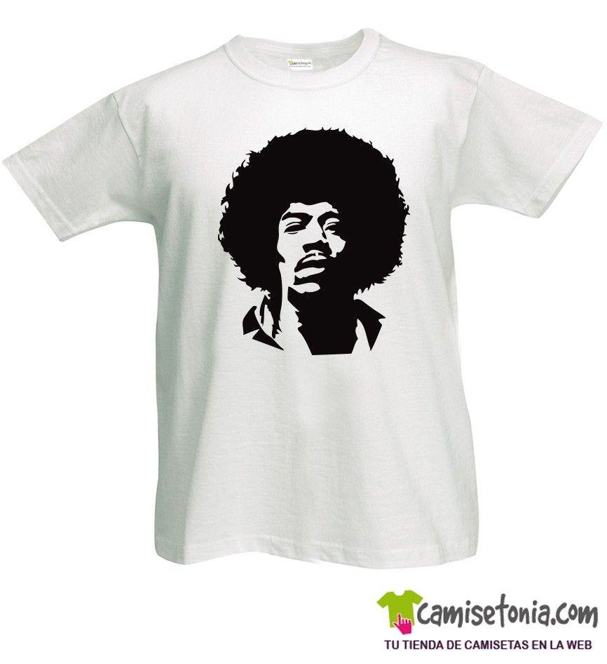 Camiseta Jimi Hendrix Blanca Hombre