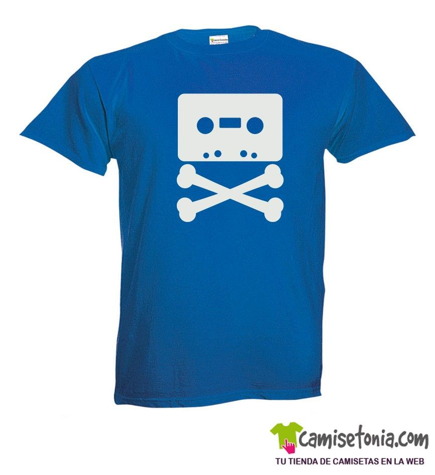 Camiseta Pirata Casette Azul Hombre