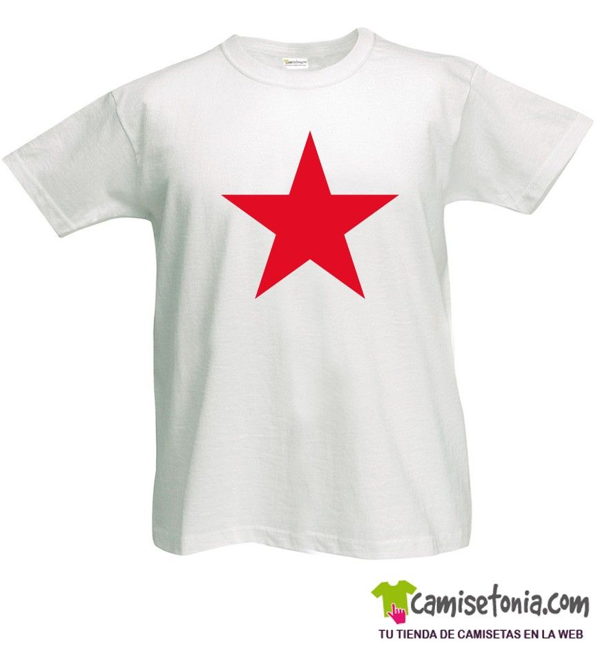 Camiseta Estrella Roja Blanca Hombre