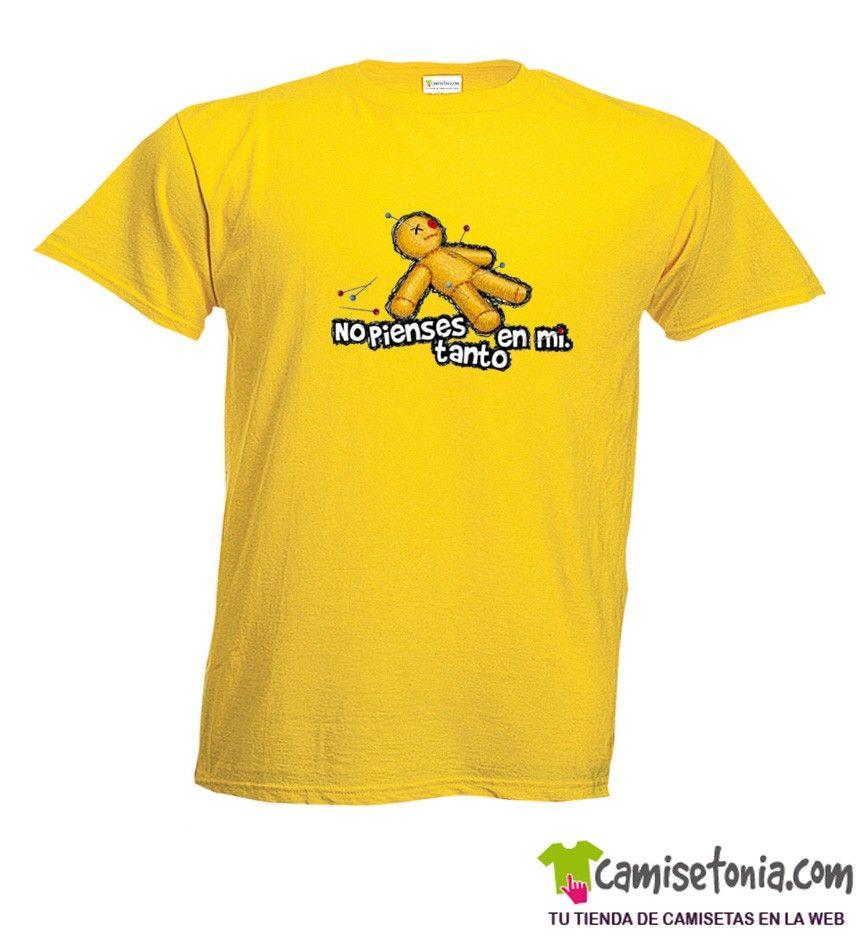 Camiseta No Pienses Tanto en Mi Amarilla Hombre