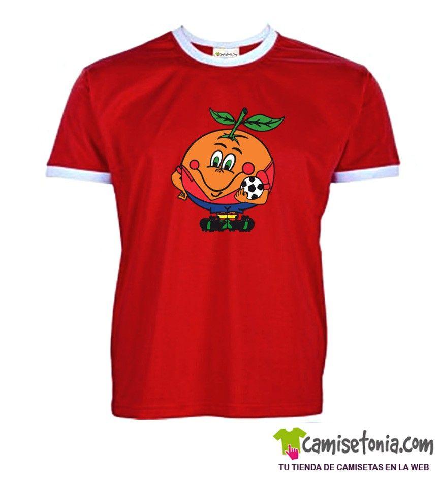 ffaddef6670 Camiseta Naranjito Retro · Camiseta Naranjito Retro Blanca Ribetes Negros ·  Camiseta Naranjito Retro Ribetes Blancos