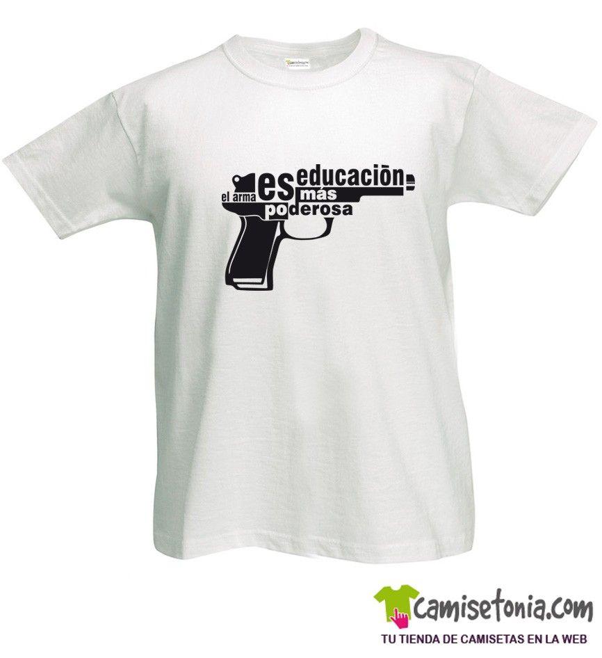Camiseta Educación es el Arma Blanca Hombre
