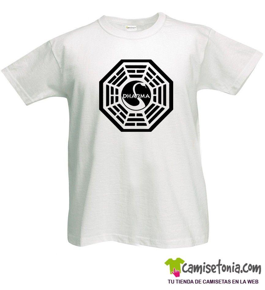 Camiseta Dharma Lost/Perdidos Cisne Blanca Hombre