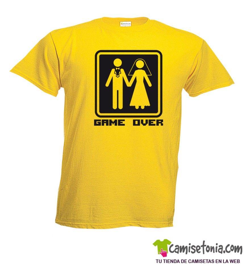 Camiseta Game Over Amarilla Hombre