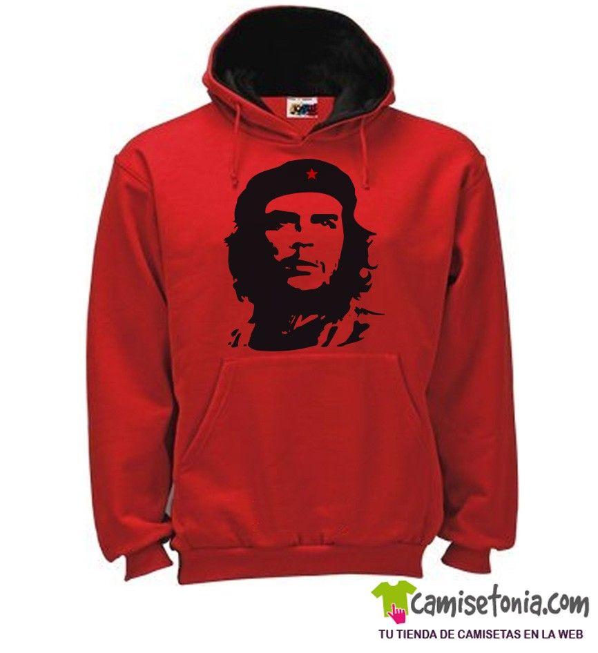 Sudadera Che Guevara Roja / Cap. Negra