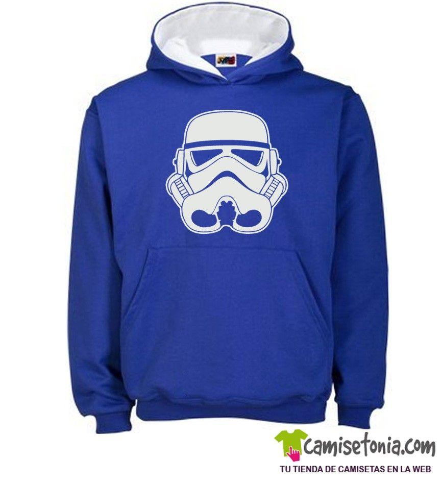 Sudadera Soldado Imperial Star Wars Azul / Cap. Blanca