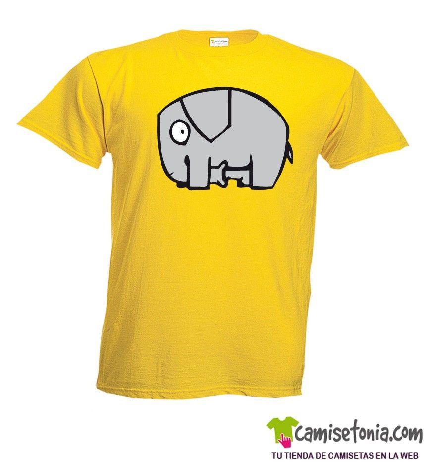 Camiseta Elefantico Amarilla Hombre