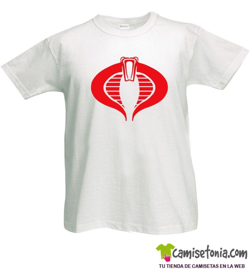 Camiseta Comando Cobra (G.I. Joe) Blanca Hombre