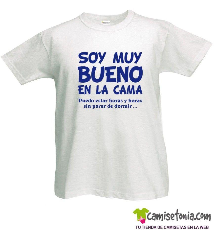 Camiseta Soy muy Bueno en la Cama Blanca Hombre