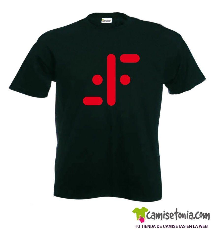 Camiseta Serie Tv V Negra Hombre