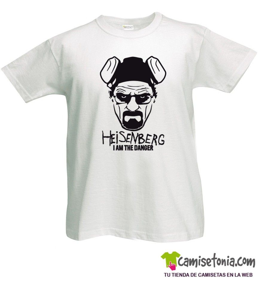 Camiseta Heisenberg I am the Danger Blanca Hombre
