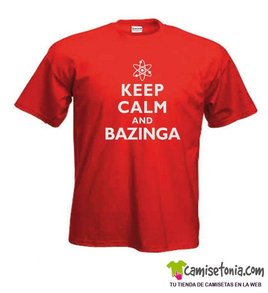Keep Calm and Bazinga Roja Hombre