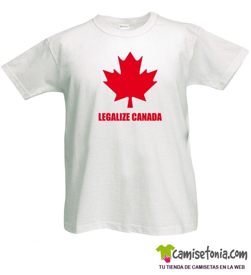 Camiseta Legalize Canada Blanca Hombre