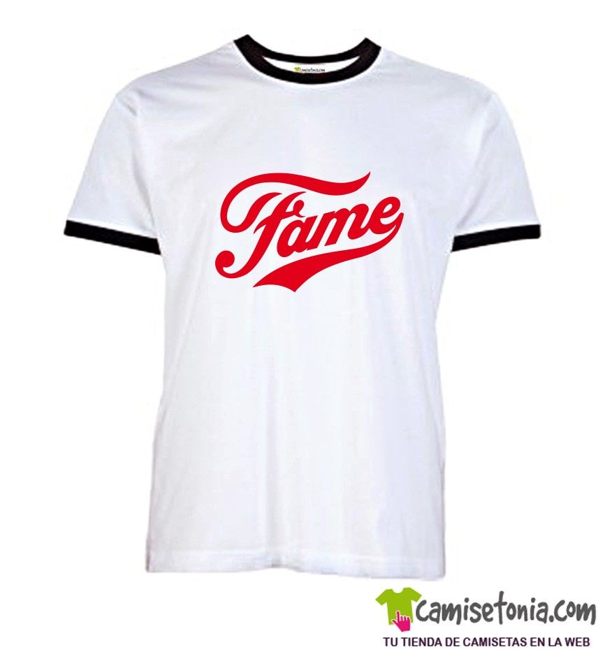 Camiseta Fame Blanca Ribetes Negros
