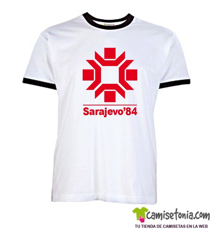 Camiseta Sarajevo'84 Ribetes Negros