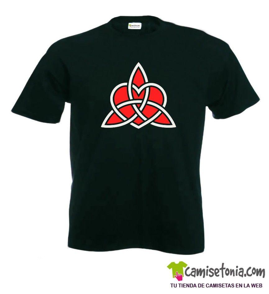 Camiseta Simbolo Celta Thor Negra Hombre