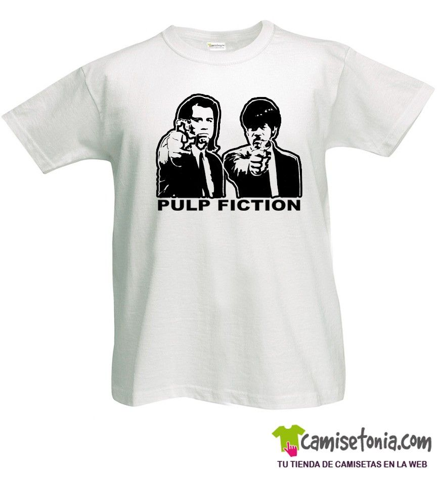 Camiseta Pulp Fiction Blanca Hombre
