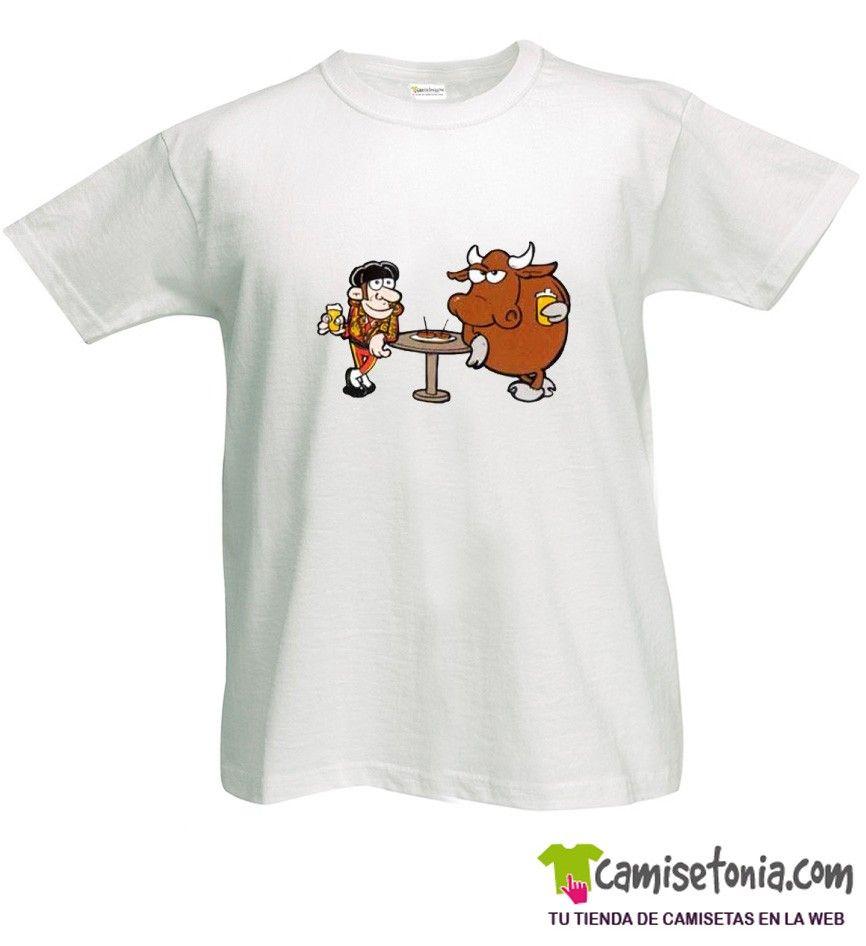 Camiseta Toro y Torero Blanca Hombre