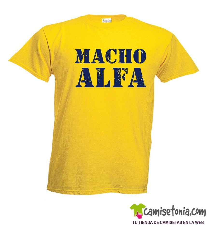 Camiseta Macho Alfa Amarilla Hombre