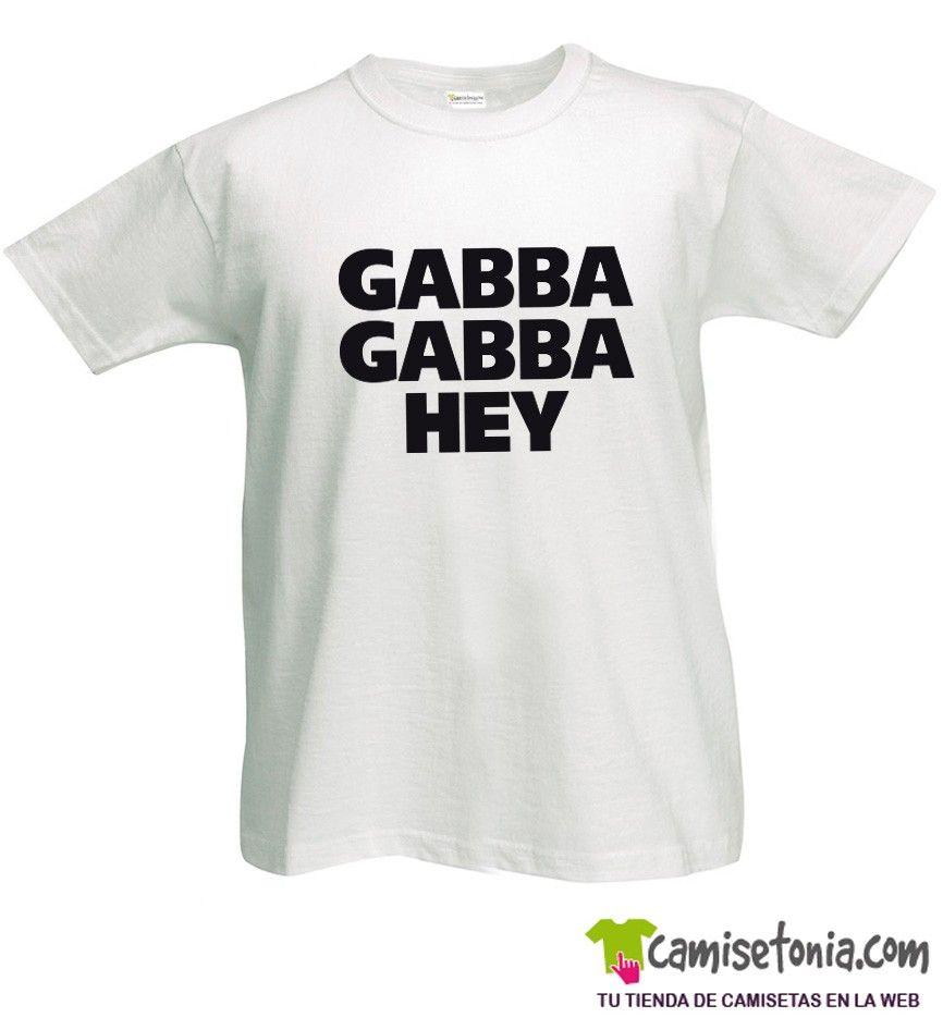 Camiseta Ramones Gabba Gabba Hey Blanca Hombre