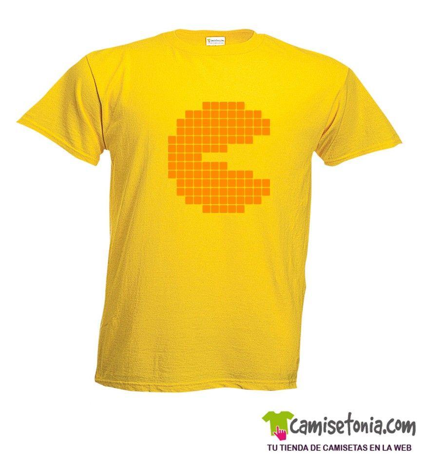Camiseta Comecocos-Pacman Amarilla Hombre