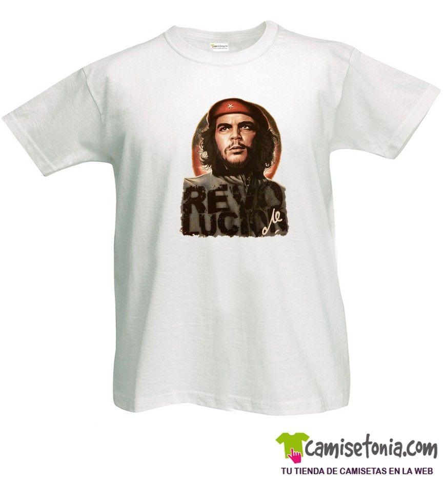 Camiseta Che Guevara Revolución Blanca Hombre