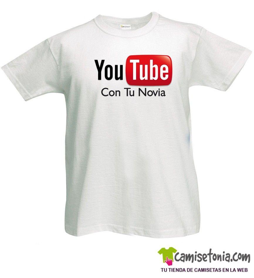 Camiseta You Tube (Con tu novia) Blanca Hombre