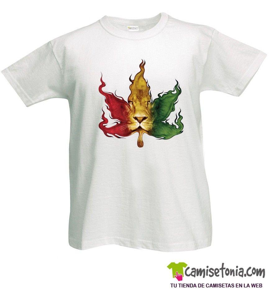 Camiseta Reggae Jamaica Blanca Hombre