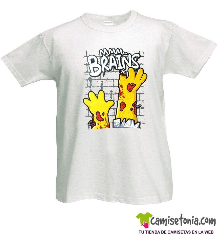 Camiseta Simpson Zombie Blanca Hombre