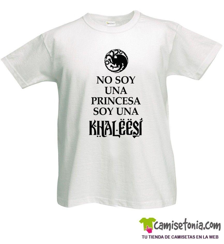 Camiseta No soy una Princesa Soy una Khaleesi Blanca Hombre