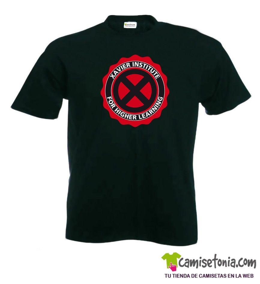 Camiseta Xavier Institute-X Men Hombre Negra